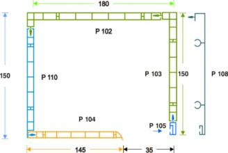 κουτί επικ/νο PVC- μετ. αλουμ. 15 x 18