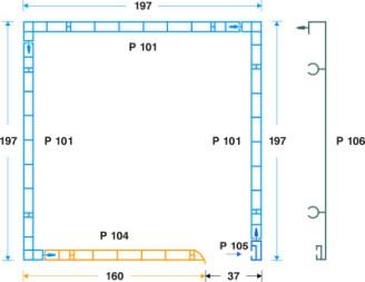κουτί επικ/νο PVC- μετ. αλουμ. 19.7 x 19.7