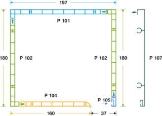 κουτί επικ/νο PVC- μετ. αλουμ. 18 x 19.7