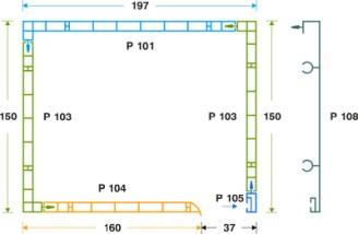 κουτί επικ/νο PVC- μετ. αλουμ. 15 x 19.7