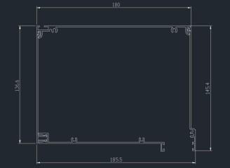 κουτί αλουμ. ίσιο 14 x 18
