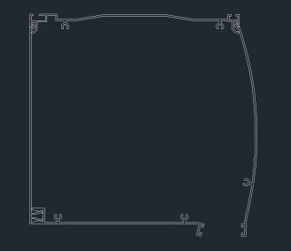 κουτί αλουμ. oval 18 x 18